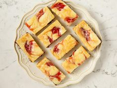 Strawberry Cheesecake Brownies - On Poinsettia Drive Strawberry Jam, Strawberry Cheesecake, Cheesecake Brownies, Food Network Recipes, Cooking Recipes, Yummy Recipes, Brownie Ingredients, Food Network Canada, Unsweetened Chocolate