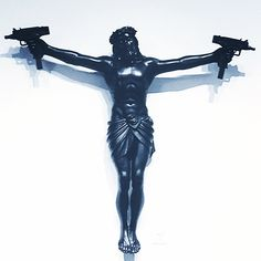 Jezus with the uzi strapped