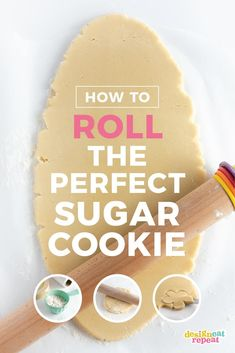 How to Roll Out Sugar Cookies - Design Eat Repeat Bakery Sugar Cookies Recipe, Roll Out Sugar Cookies, Butter Sugar Cookies, Sugar Cookie Frosting, Sugar Cookie Dough, Baby Cookies, Cut Out Cookies, Heart Cookies, Shortbread Cookies