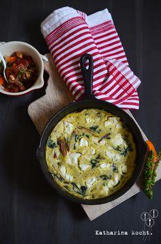 Mangold-Frittata mit Feta