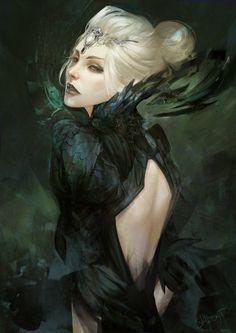 Commission, dark priestess by skyzocat on deviantart fantasy art: the women Fantasy Girl, 3d Fantasy, Fantasy Kunst, Fantasy Women, Fantasy Artwork, Fantasy Witch, Dark Artwork, Fantasy Story, Fantasy Images