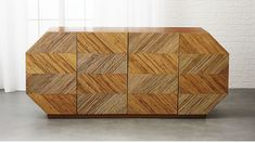 Designed by Mermelada Estudio, rattan credenza shows Panama in attitude but modern in form. Four doors feature a repeating pattern with alternating diagonal lines of rattan core and open to a single shelf. How To Clean Furniture, Affordable Furniture, Cheap Furniture, Furniture Sets, Modern Furniture, Furniture Design, Furniture Nyc, Furniture Cleaning, Metal Furniture