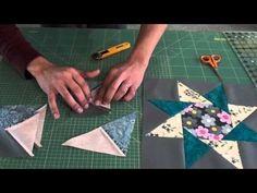 """Con questo video tutorial, eseguito da """"Marinaldo Ferreira"""", imparerete a realizzare un altro blocco in patchwork, formato da una stella a otto puntecon un"""