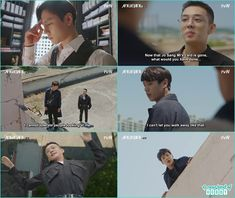 se joo fall from the building while stooping tae min - Chicago Typewriter: Episode 14 korean Drama