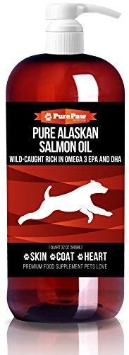 Premium Wild Alaskan Salmon Oil Top Holistic Remedy EPA & DHA for Dog & Cat Health Softens Fur Coats Relieves Hotspots, Dry, Itchy Skin & Allergies