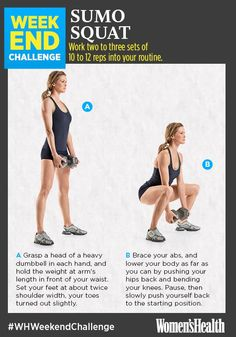 Sculpt Your Butt and Legs with One Killer Move  http://www.womenshealthmag.com/fitness/sumo-squat-challenge?internal_recirc=outbrain_mlf