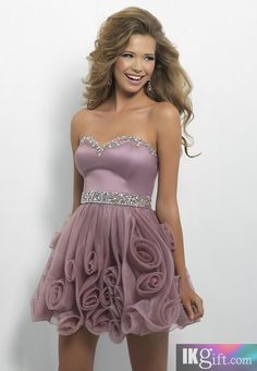 Lavendar Homecoming Prom Dress!  Come to Davison Bridal in Davison, MI for all of your wedding day and special event needs!  Call (810) 658-6070 or visit our website www.davisonbridal.com for more information!