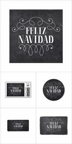 Chic Feliz Navidad Typography