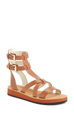 MICHAEL Michael Kors 'Judie' Leather Gladiator Sandal (Women) available at #Nordstrom