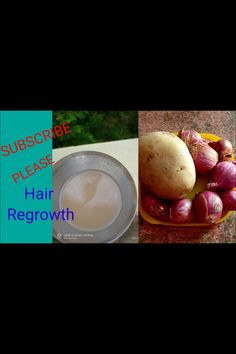 Regrowth Hair|onion And Potato Herbal Hair Regrowth Formula|hair Treatment Naturally Regrow Hair Naturally, Stop Hair Loss, Hair Regrowth, Turning, Onion, Herbalism, Natural Hair Styles, Potatoes, Stone