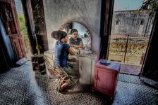 Girl at vanity, Havana - Jay Dorfman