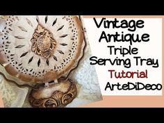 "DIY Decoupage: ""Wash"" Technique ! Τεχνική ""wash"" σε ανάγλυφο... ArteDiDe... Shabby Vintage, Vintage Antiques, Lava, Decoupage, Cursed Child Book, Youtube, Crafts, Diy, Ornaments"