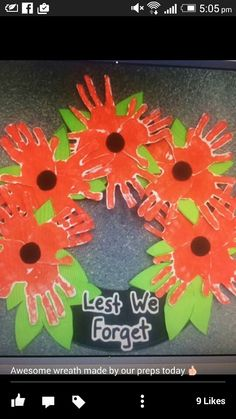 Anzac day craft Poppy Craft For Kids, Fall Crafts For Kids, Art For Kids, Remembrance Day Activities, Remembrance Day Poppy, Craft Activities, Preschool Crafts, Activity Ideas, Wreath Crafts