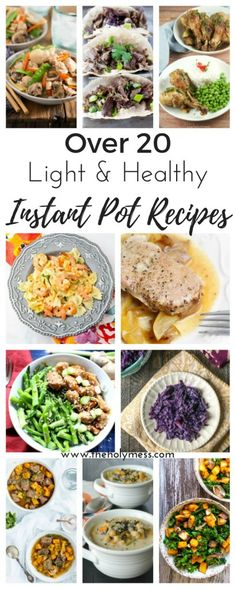 20 Light and Healthy Instant Pot Recipes