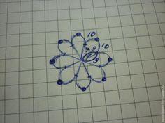 Сегодня я хочу показать, как я плету сережки в технике фриволите в виде цветка. Этот мастер-класс подойдет для тех, кто уже владеет основами фриволите. Для начала — схема. Количество лепестков вы можете выбирать по своему усмотрению. Я сделала цветок с пятью лепестками. Плетем первое кольцо: 7 узлов, пико, 10 узлов, пико с бисеринкой, 10 узлов, пико, 7 узлов.