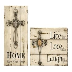 Rushkin Cross Wall Decor - Set of 2 Shipping is always included, so the price you see is the price you pay!  Available at A Z Gallerie, http://www.azgallerie.com  Set of two unique, weathered inspirational cross wall decor, List Price: $109.99  Price: $60.86