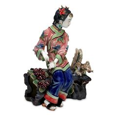 Aliexpress.com : Buy Chinese Dolls Christmas Painted Figurine Porcelain Antique Ceramic Statue Art Collectible Home Furnishing Craft…
