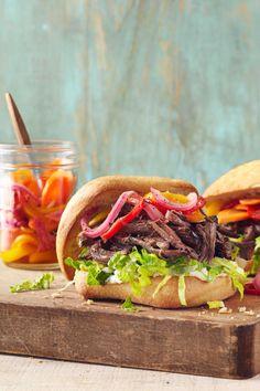 Slow-Cooker Roast Beef Sandwichescountryliving
