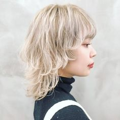 Cute Hairstyles For Medium Hair, Hairstyles Haircuts, Pretty Hairstyles, Shot Hair Styles, Curly Hair Styles, Pelo Emo, Asian Short Hair, Short Punk Hair, Mullet Hairstyle