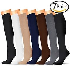 7 Pairs Compression Socks For Women and Men Best Medical Nursing for Running Athletic Edema Diabetic Varicose Veins Travel Pregnancy & Maternity Essential Oil For Swelling, Essential Oils For Pain, Essential Oils Guide, Essential Oil Blends, Swollen Ankles, Shin Splints, Varicose Veins, Essentials, Pregnancy