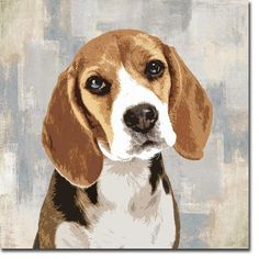 Shop for Beagle by Keri Rodgers Gallery Wrapped Canvas Giclee Art in x 24 in, Ready to Hang). Get free delivery On EVERYTHING* Overstock - Your Online Art Gallery Store! Art Beagle, Beagle Puppies, Beagles, Dog Paintings, Art Graphique, Painting Edges, Canvas Artwork, Dog Canvas Painting, Stretched Canvas Prints