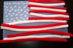 Children's Learning Activities: American Flag Pattern Acvitity