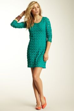 Wild Things Mini Dress Free People » Love the emerald green color.