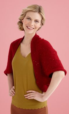 Sparkling Shrug-------nice holiday knit or gift