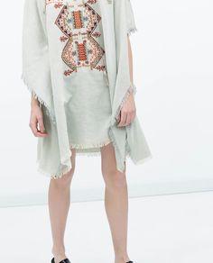 Image 3 of ETHNIC PATTERN PONCHO from Zara