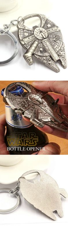 Star Wars Millennium Falcon Metal Alloy Bottle Opener! Click The Image To Buy It Now or Tag Someone You Want To Buy This For.  #StarWars