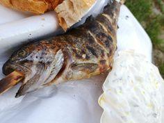 großartiger Steckerlfisch von der Hafenkneipe. Mehr dazu auf meinem Blog Turkey, Meat, Blog, Turkey Country, Blogging