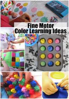 Fine Motor Color Learning Ideas for Toddlers & Preschoolers