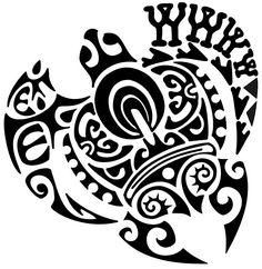 Triptych Turtle Maori tattoo