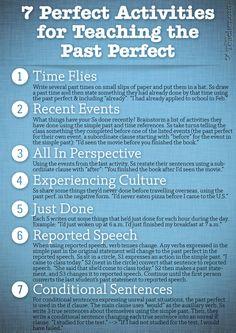 7 Perfect Activities to Teach the Past Perfect - plus que parfait! Efl Teaching, Teaching Grammar, Grammar And Vocabulary, Teaching Activities, Teaching Resources, Vocabulary Activities, Preschool Worksheets, Teaching French, Teaching Spanish