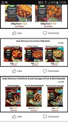 Asda Slimzone Aldi Slimming World Syns, Asda Slimming World, Slimming Worls, Easy Slimming World Recipes, Slimming World Dinners, Slimming World Plan, Asda Syn Free Foods, Food Inspiration, Diets