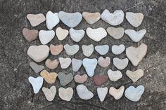 Sea Stone Heart Wedding Guest Book Beach by BalticBeachTreasures