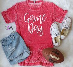 GAME DAY Shirt, Football Shirt, Baseball Mom Shirt, Baseball Shirt, Game Day Baseball Shirt, Football Mom Shirt, College Football by 1OneCraftyMomma on Etsy https://www.etsy.com/listing/545637875/game-day-shirt-football-shirt-baseball