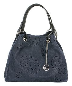 Another great find on #zulily! Jeans Leather Hexagon Hobo #zulilyfinds
