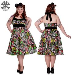 802bc5c6f050e Ensaio para a marca Hell Bunny - Looks Retrô. Pin Up Dresses50s DressesPlus  Size DressesVintage ...