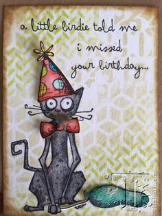 RESERVE Tim Holtz Cling Rubber Stamps 2016 CRAZY CATS CMS251 zoom image