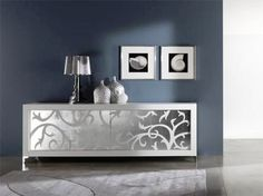 Delicate, elegant and rich Silver Leafing design for your boring Home Furniture! http://www.goldcraftstudio.in/