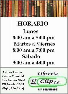 ¡Buenos días queridos lectores! Les recordamos nuestro #Horario A la orden en #LibreríaElClip