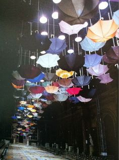 love this picture! love the umbrellas... i would totally do this for a runway! wicked cool