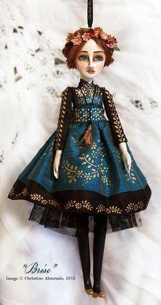 "Christine Alvarado/du-bah-du Designs - Doll Ornament ""Brise"""