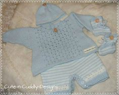 Baby #/reborn doll designer knitting #pattern #..angel top/shorts/hat/bootees,  View more on the LINK: 	http://www.zeppy.io/product/gb/2/162028443311/