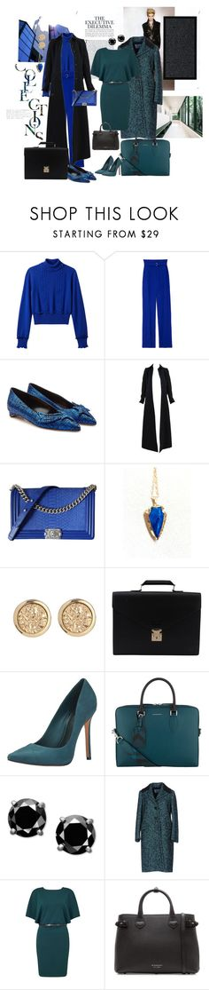 """EXECUTIVE ESSENTIALS"" by angelaskatermom ❤ liked on Polyvore featuring 3.1 Phillip Lim, Rupert Sanderson, Alaïa, Chanel, Louis Vuitton, Schutz, Burberry, Prada and Miss Selfridge"