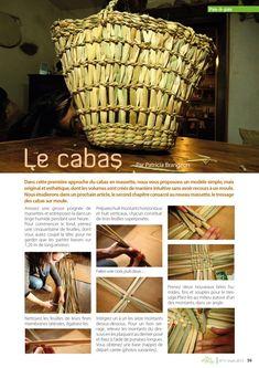 le cabas   Le cabas en massette - Passementerie, Handmade Handbags, Gras, Fibre, Basket Weaving, Projects To Try, Crafty, Zombies Survival, Camping Stuff