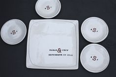 personalized wedding platter set (cute gift for newlyweds)