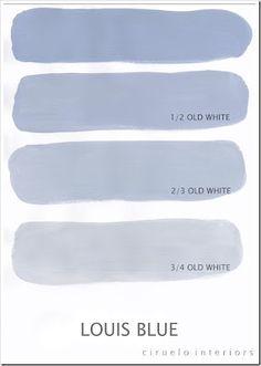 Les possibilites de Louis Blue Chalk Paint™ peinture décorative par Annie Sloan mélangé avec Old White