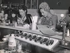 Soda fountain, 1940s simpler times!